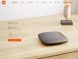 小米盒子美国版产品站的设计