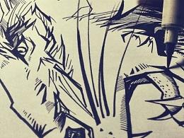 插画涂鸦--狮