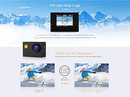 3C数码户外摄影相机产品电商详情页设计