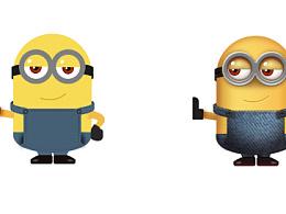 UI设计-扁平和拟物小黄人(附源文件)