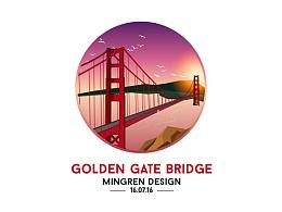 Day11- 每日设计 金门大桥 黄昏