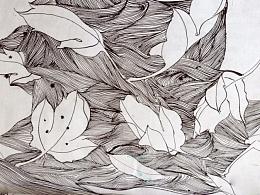 【手绘】牡丹-落叶