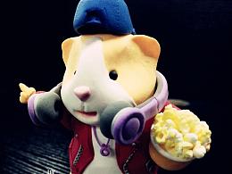 超轻粘土玩偶,2X豚鼠一只