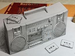 录音机立体画