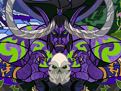 玻璃彩绘风格的魔兽世界