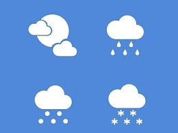 天气剪影图标