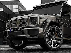 BRABUS G500 定制车身漆面 哑光金属灰