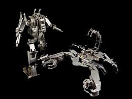机械党 全金属  钢铁天蝎 模型套件  天蝎座专属礼物