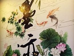 墨迹 半年四季壁画 的故事