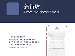 """""""新街坊""""智能社区app 概念原型图"""