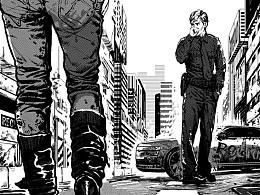 《推理世界》黑白插画 第六发
