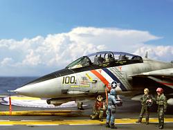 1/72 美國海軍 F-14D VF-2 賞金獵貓 「場景篇」