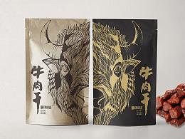[ 蒙利沁牛肉干 ] 包装设计_一匹野蛮的蛮牛