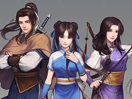 仙剑奇侠传online六个角色