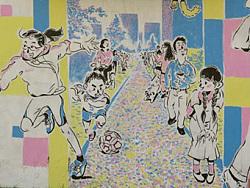 """""""缤纷魔法门""""——上海创智农园墙绘项目"""