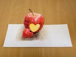 3D立体苹果作画步骤