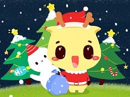 驻小鹿圣诞欢迎页