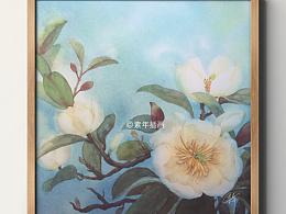 含笑花小过程 水彩花卉