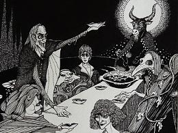 巴弗灭的晚宴(作画步奏)