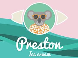 Preston - 全新冰淇淋品牌 (VI,店铺设计)