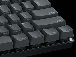 机械键盘 Poker III 产品可视化效果图
