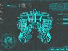 GANKER机器人游戏界面开场动画