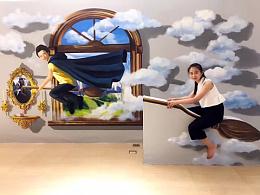 特色小镇奇幻原创主题3D壁画艺术馆