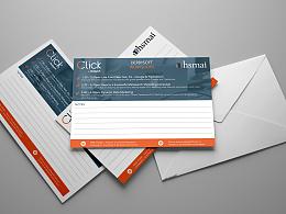 与hsmai(国际营销协会)合作明信片