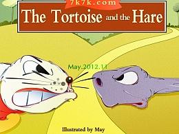 曾经的插画作品《龟兔赛跑》,上传数张,与大家分享~
