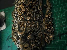 :four_leaf_clover:面具主体已经弄好辣,还差地台的一点调整就完工。