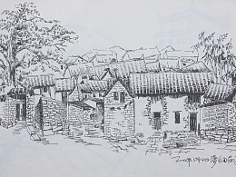 大学时期的手绘写生