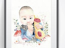 水彩:宝宝