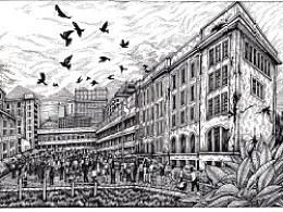 《震后校园》——为《超好看》杂志一月刊创作的小说插图