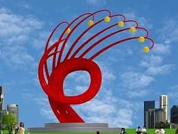 金银花城市雕塑设计