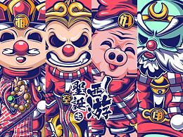 《西游-圣诞志》系列插画