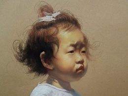 色粉笔-儿童素描头像系列二