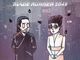 银翼杀手系列科幻电影插画动图