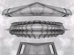 回到未来,手机后期抽象空间建筑摄影