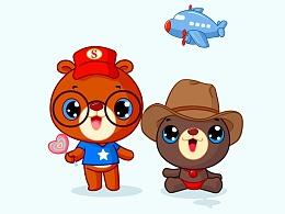 熊小弟与熊泡泡