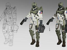 洛克猴(杜震)课堂范画《NASA维护兵》 附步骤图