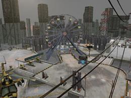 游戏废旧的工厂场景
