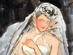 国画作品《新娘》
