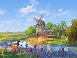 风车创作过程