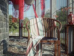 新中式圈椅渲染