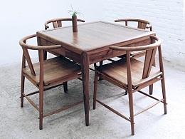 最佳搭档—【木心】圈椅+八仙桌