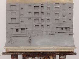 浮雕,废弃大楼