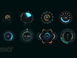 科技感图表及场景