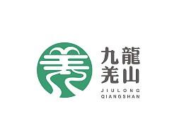 九龙羌山logo设计