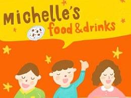 michelle's 菜单+招贴