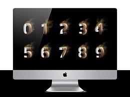 一套数字(字效)设计